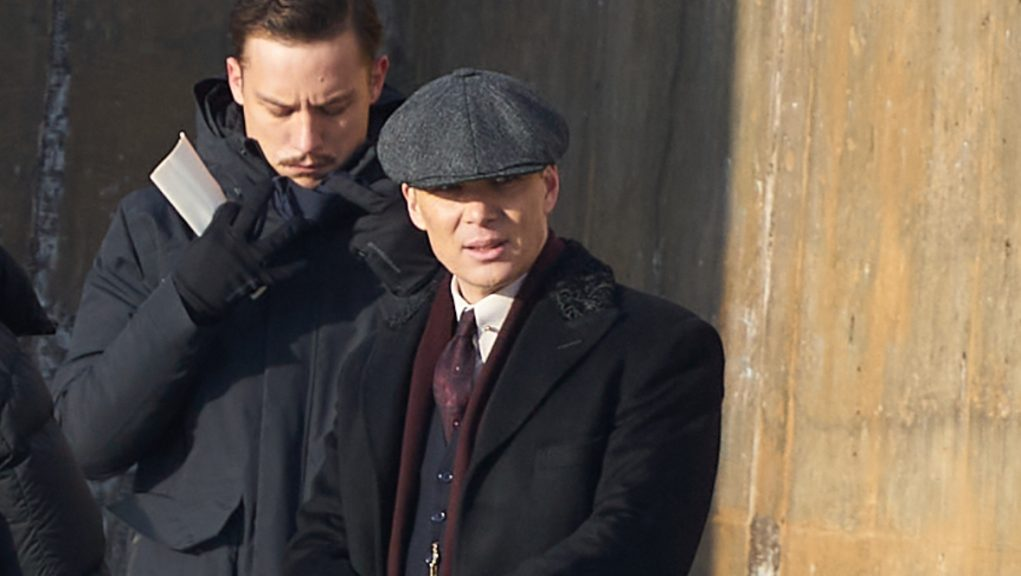 Cillian Murphy pictured on set in Portsoy, Aberdeenshire.