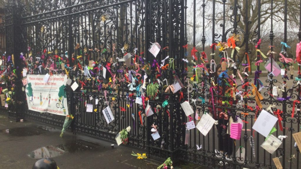 Tributes paid at a Reclaim These Streets vigil in Glasgow.