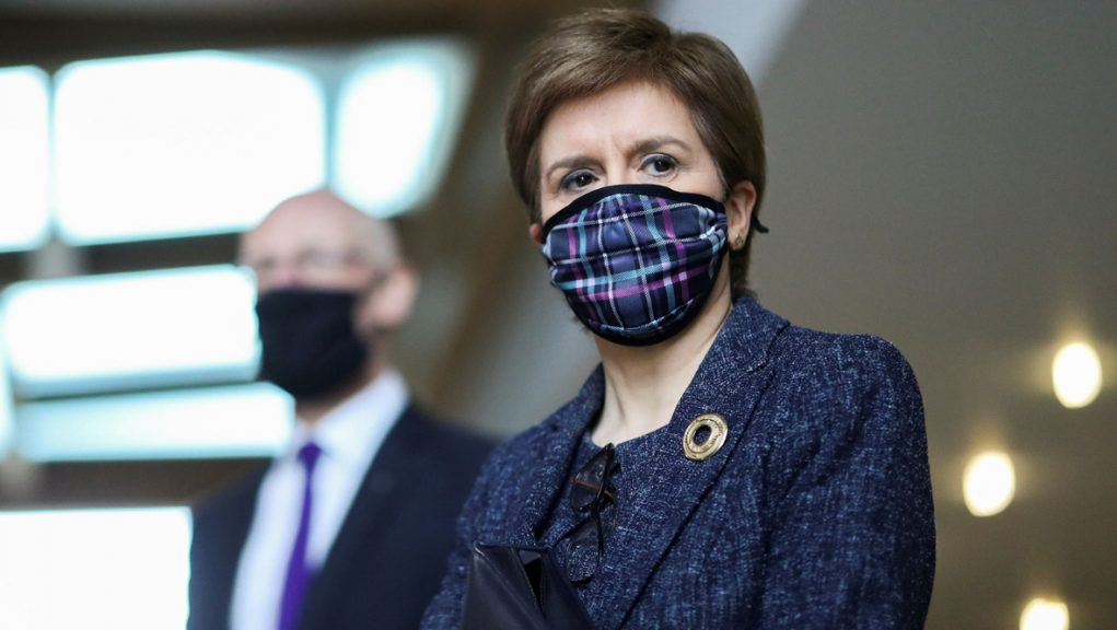 First Minister Nicola Sturgeon could announce an easing of restrictions on outdoor meetings.
