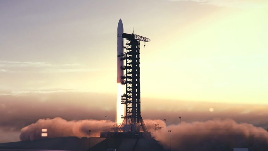 A Skyrora rocket test. The company is aiming to be the first in the UK to launch satellites from Europe.