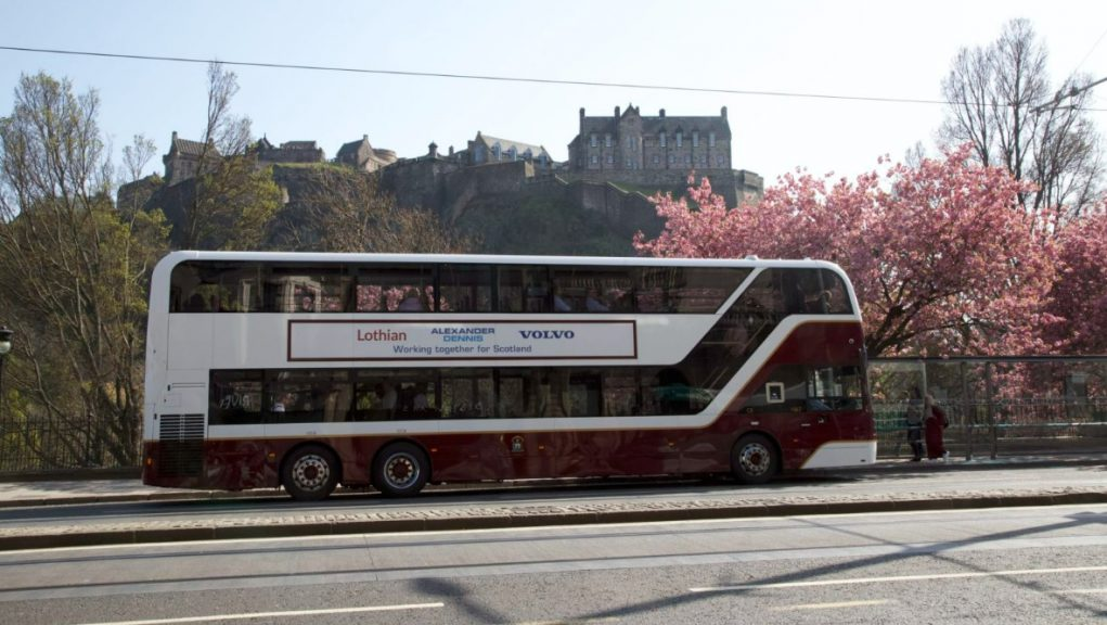 Edinburgh: Bus services across the city were suspended on Wednesday night.