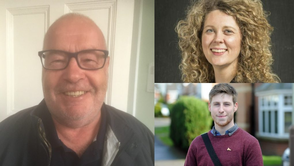 Angus Council: David Fairweather, Lois Speed and Ben Lawrie.