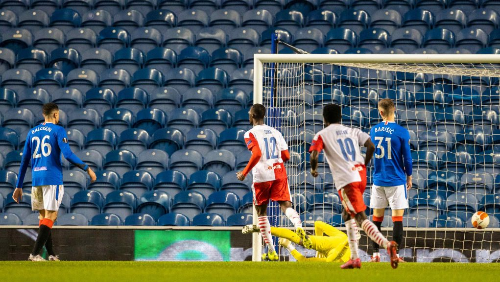 Slavia took an early lead and Rangers could find a response.