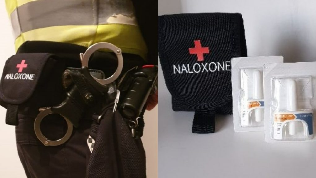 Police: Officers used Naloxone to help save someone's life.