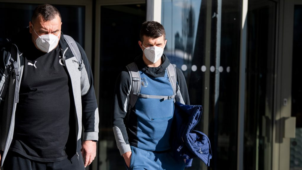 Rangers say Ondrej Kudela (right) racially abused Glen Kamara.
