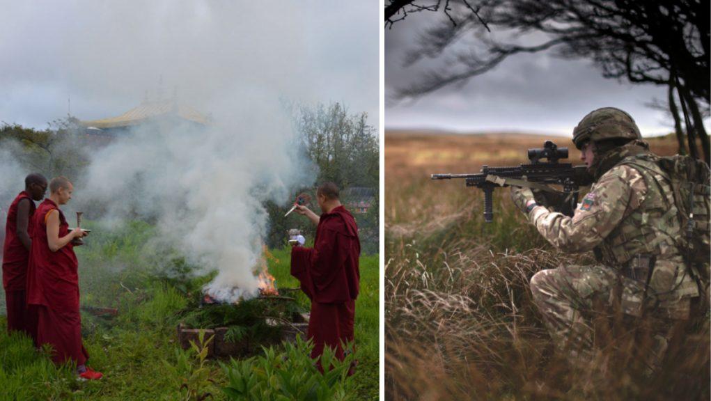 A rifle range has been set up 2km from Kagyu Samye Ling Monastery and Tibetan Buddhist Centre.