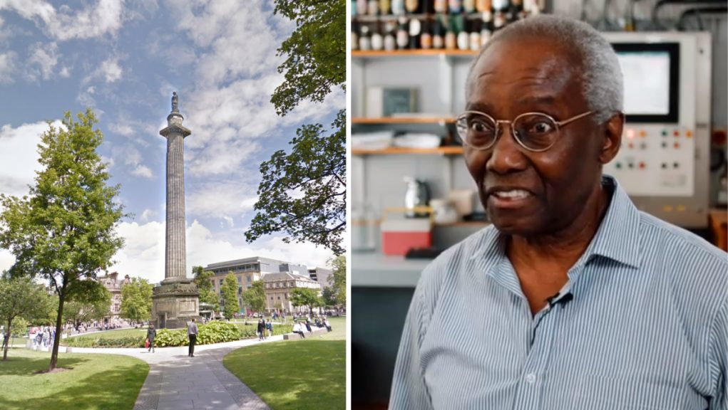 The Melville Monument should remain in its context, said Sir Geoff Palmer OBE.