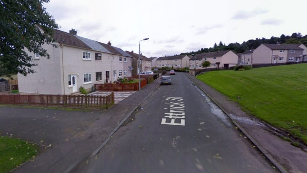 Wishaw: The attack happened at a property in Ettrick Street on Thursday night.