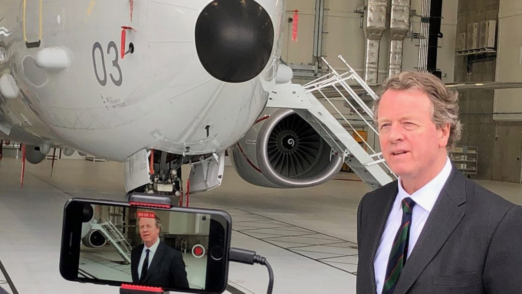 Secretary of State for Scotland Alister Jack visiting RAF Lossiemouth.