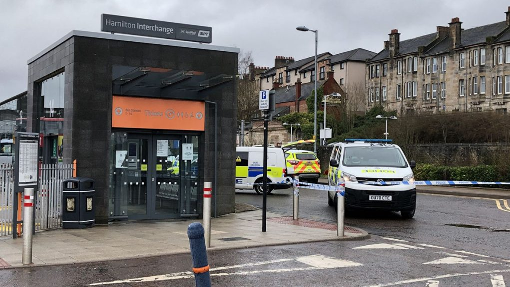 Man was stabbed at Hamilton Central railway station.