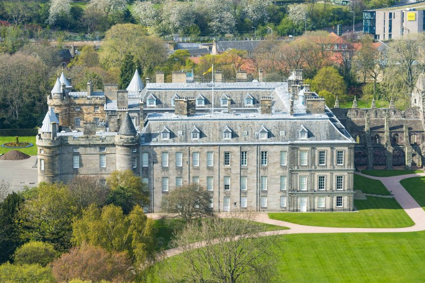 Bomb squads were called to a suspicious item in the grounds of the Palace of Holyroodhouse.