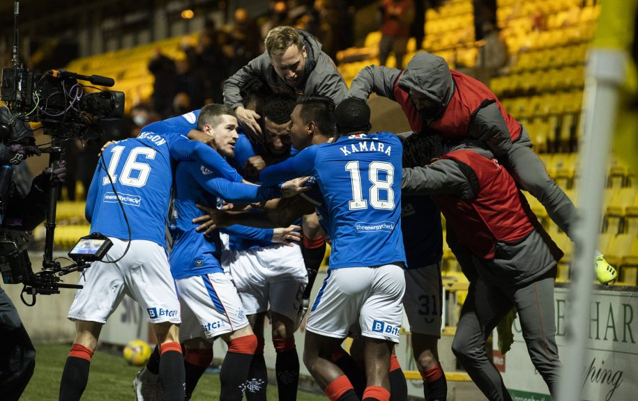 Rangers: 18 clear after Livingston win.