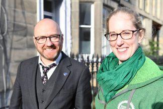 Patrick Harvie and Lorna Slater