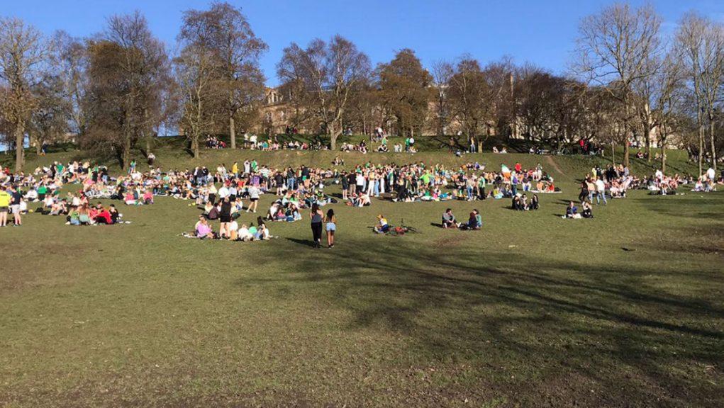 Glasgow: Huge crowds gathered in Kelvingrove Park on Wednesday.
