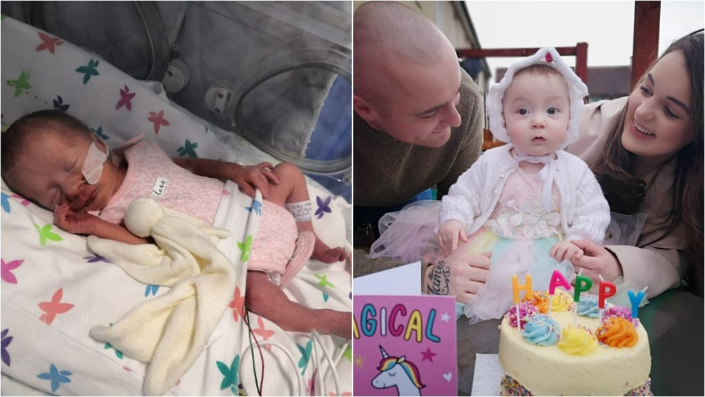 Covid battle: Peyton is now thriving ahead of her first birthday.