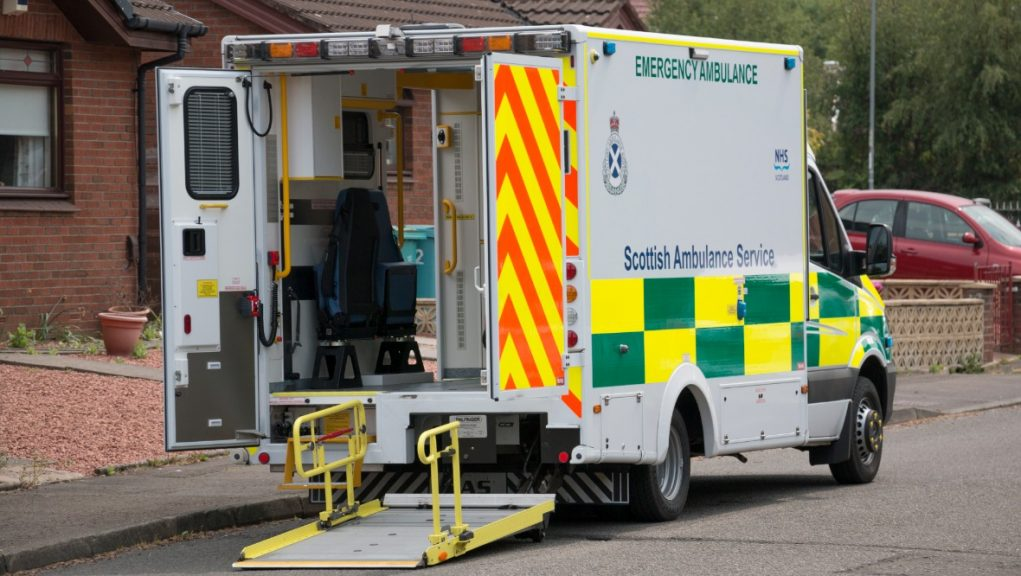 Ambulance: A man was taken to hospital.