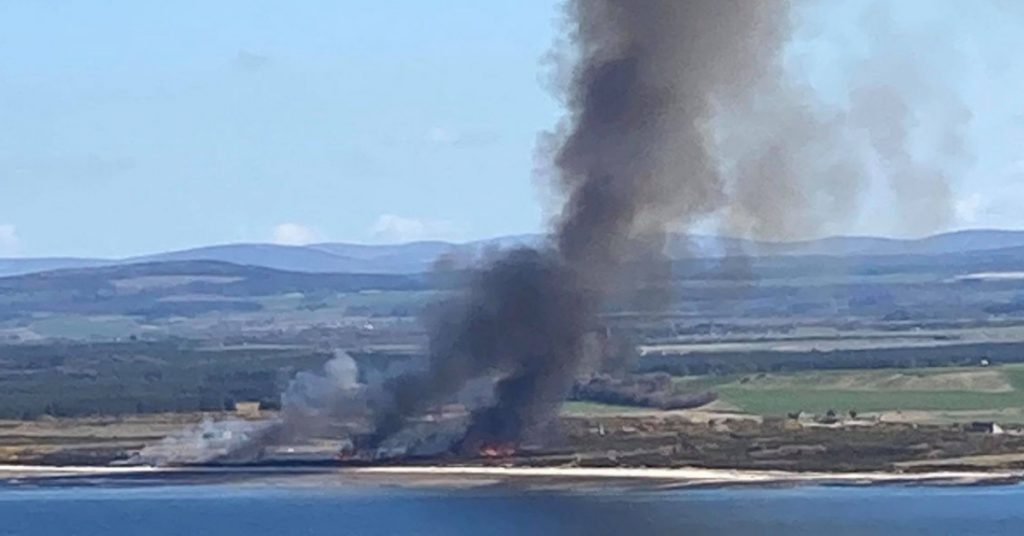 Emergency services were called to the scene at Fort George, near Ardersier, at around 1.35pm.