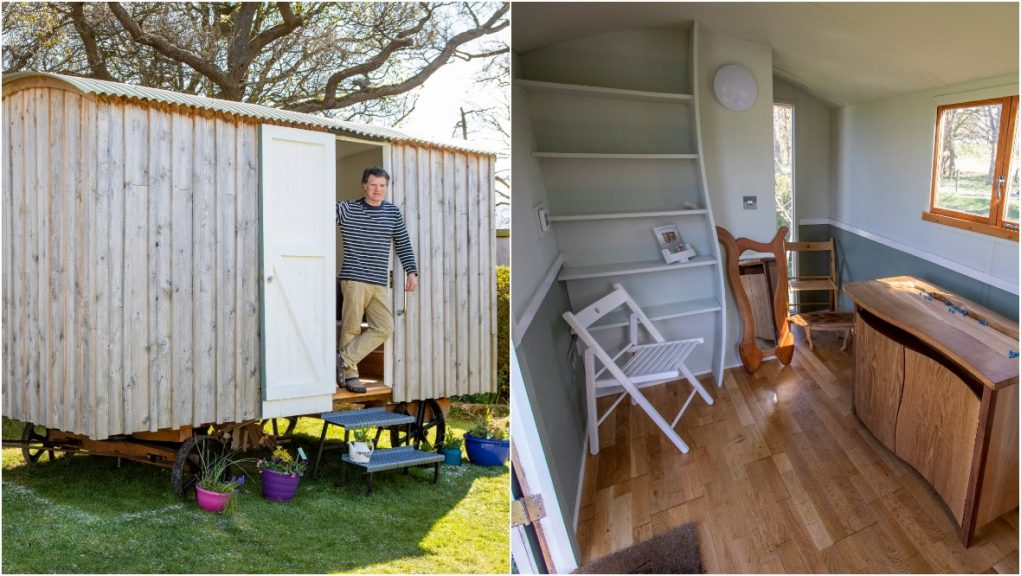 A talented Scottish craftsman sees boom in interest in his huts during Covid-19 pandemic.