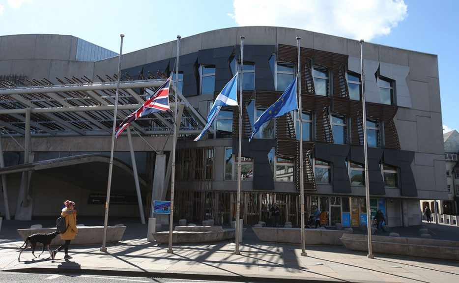 Flags outside Holyrood have been flying at half-mast as a mark of respect.
