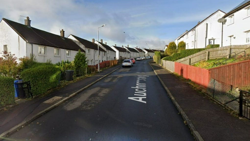 Clydebank: Officers raided a property in Auchnacraig Road, Faifley.