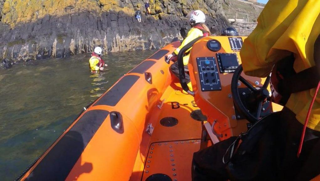 Inchkeith: The two men were rescued on Saturday afternoon.