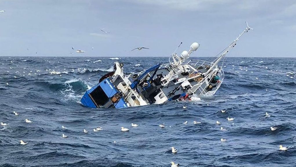 Sinking: Failure in hull thought to have caused fishing boat to sink.