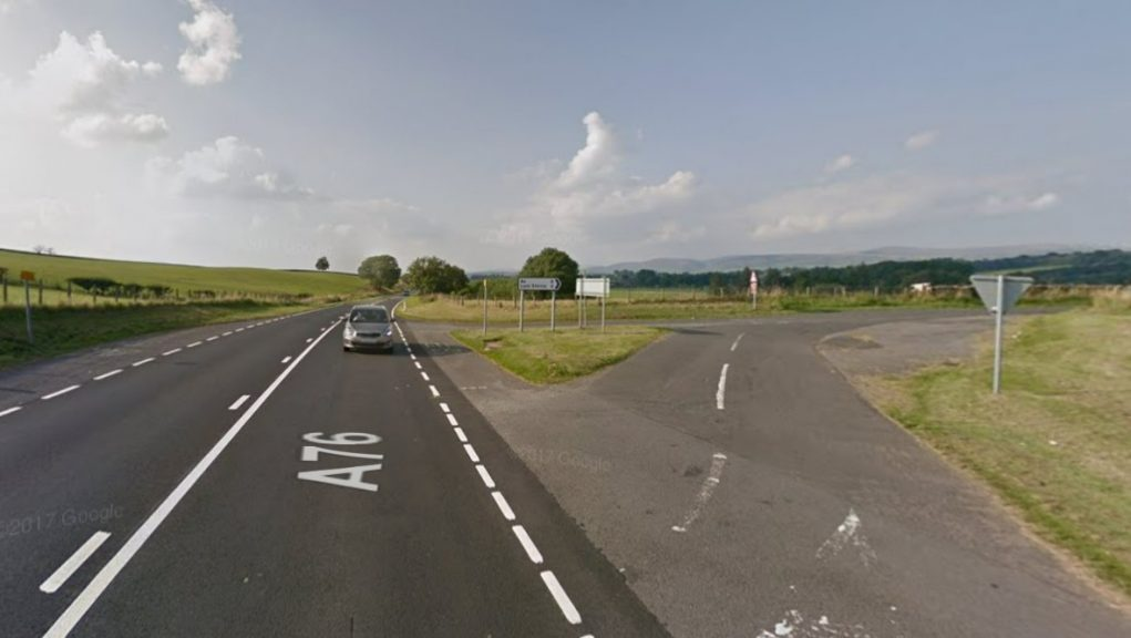 Police: The incident happened on the A76 Dumfries to Kilmarnock road on Saturday afternoon.