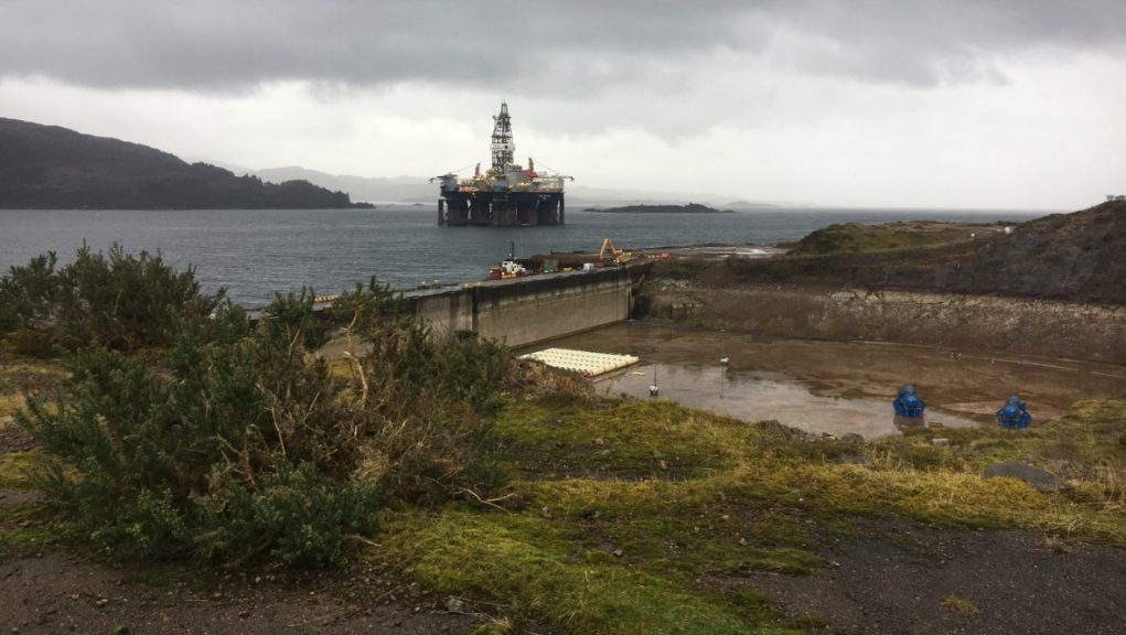 Dry dock: Kishorn Port Ltd said the expansion in the Highlands will ultimately create at least 40 jobs.