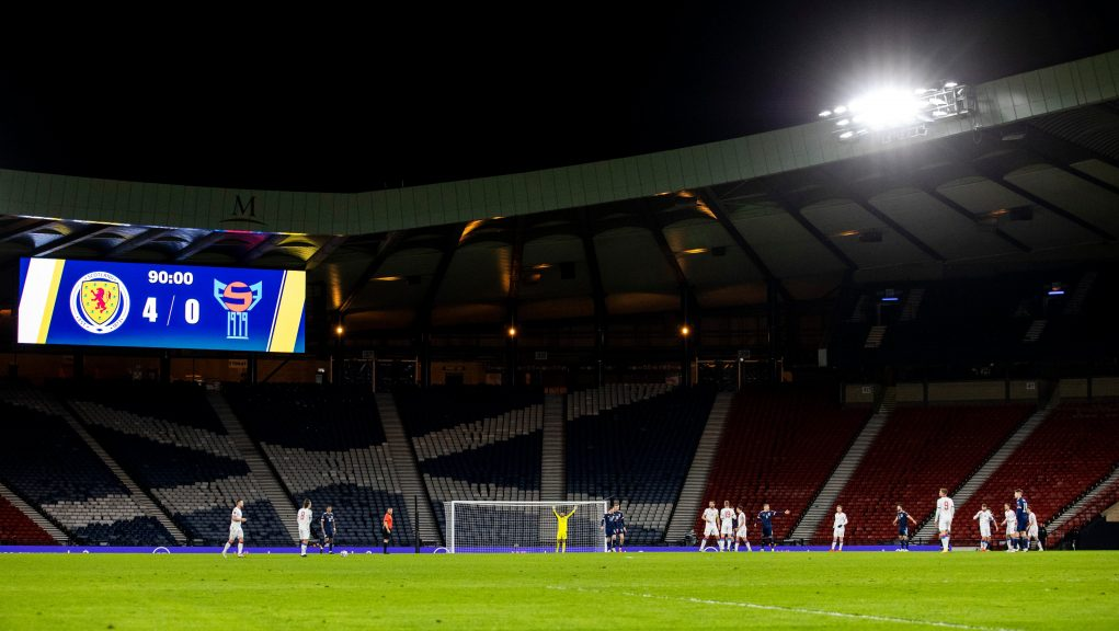 Hampden is set to welcome 12.000 fans per game in June.