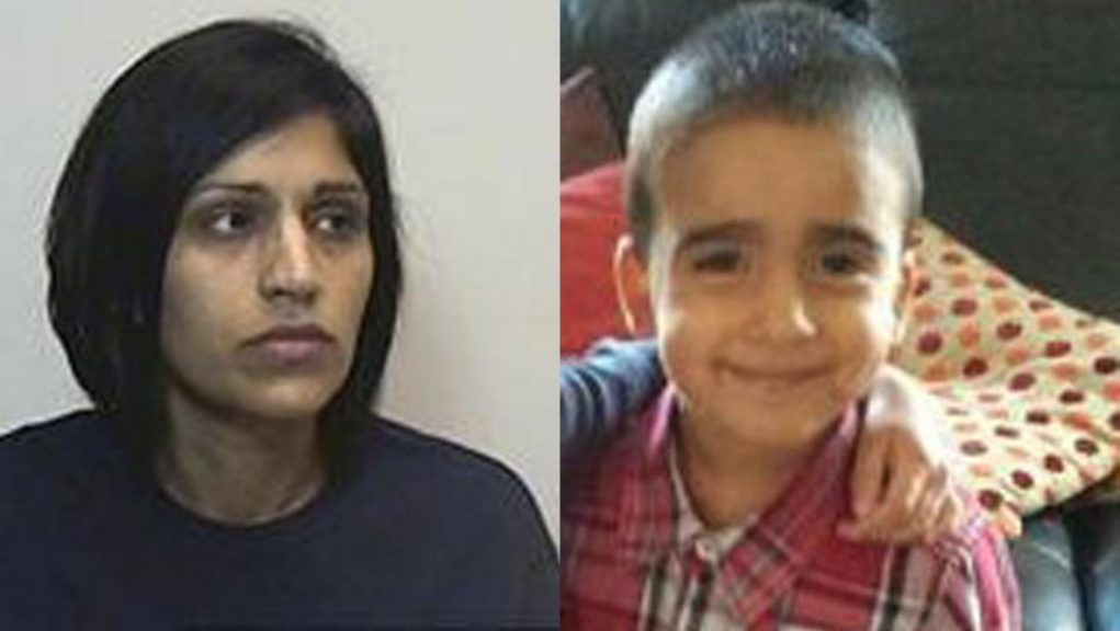 Freed: Rosdeep Adekoya killed three-year-old Mikaeel Kular.