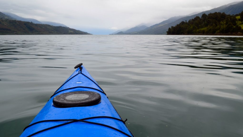 Kayak: The discovery was made at a rural property near to Inverurie in Aberdeenshire on April 19.