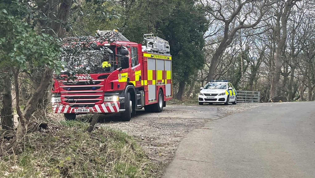 Police and the fire service attended St Margaret's Marsh beside North Queensferry.