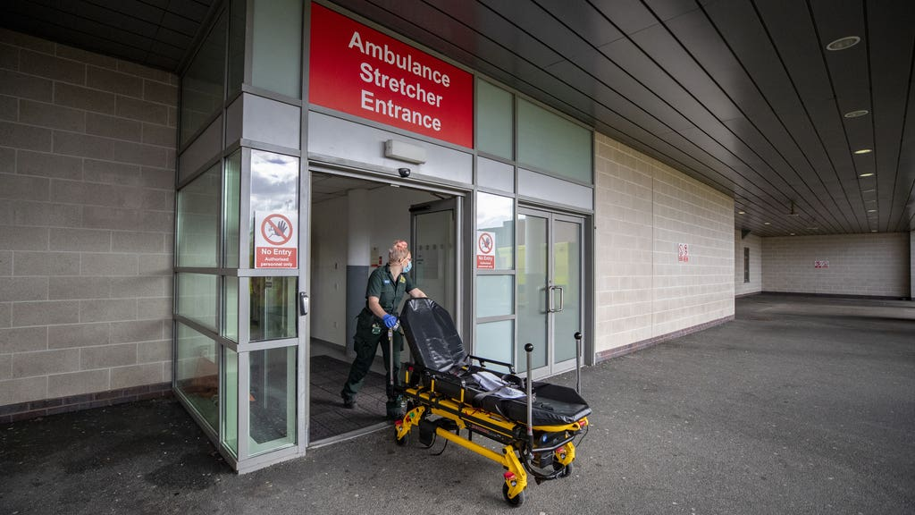 A total of 80,423 patients visited an A&E department in February, 47,918 fewer than the same month last year.