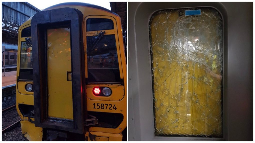 Train: Traffic cone thrown from bridge 'could have killed driver'.