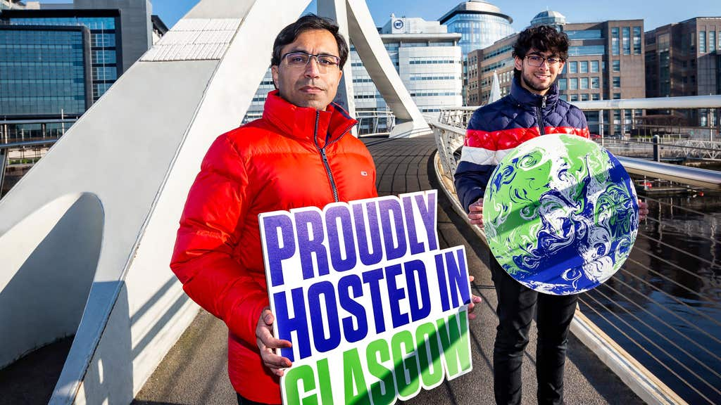 Father and son Navneet and Aayush Singh, from Glasgow have applied to volunteer at Cop26.