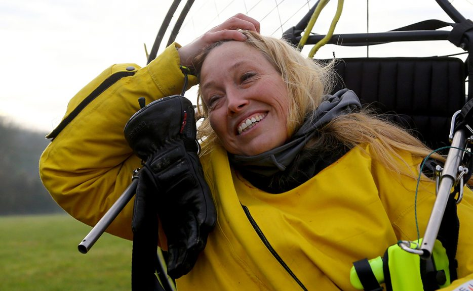 Sacha Dench will attempt to circumnavigate Britain in an adapted electric paramotor.