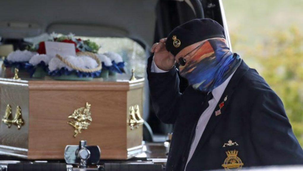 Funeral: Mr Parsons' loved ones paid their final respects at Stirling Crematorium on Thursday.