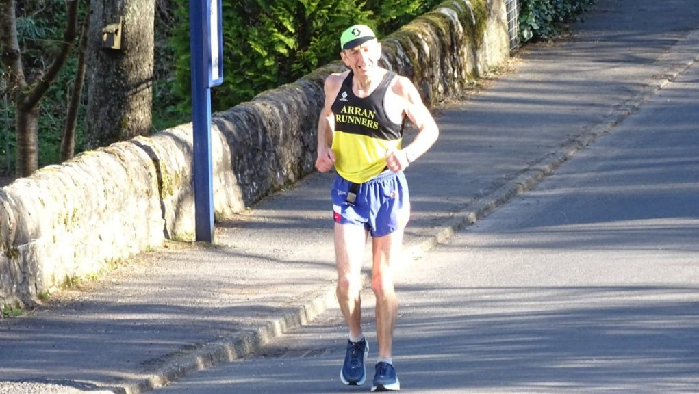 Challenge: Dave Black ran 56 miles around Arran in under ten hours.