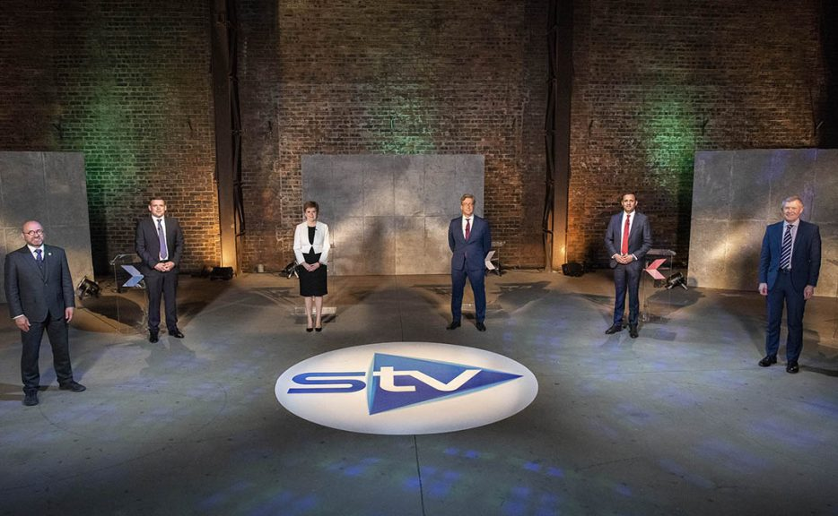 The five main party leaders put their cases forward during STV's live debate.
