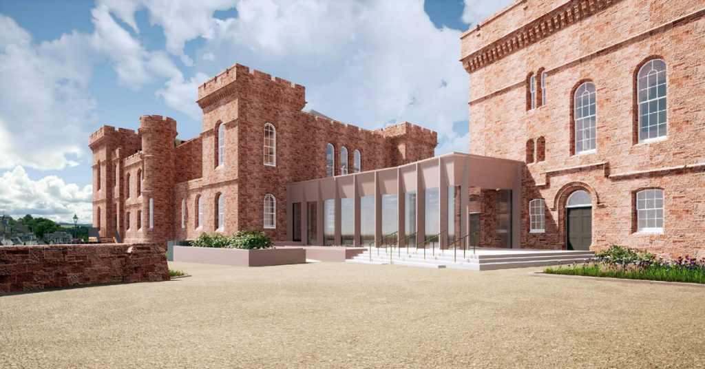 Artistic impression of the proposed changes to the castle site.