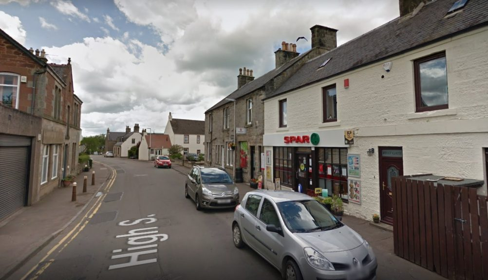 The incident reportedly took place outside the Spar on High Street, Freuchie.