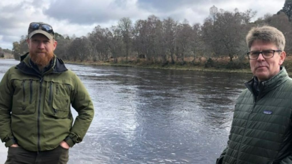 Chris Conroy and Mark Bilsby: Salmon experts in population warning.
