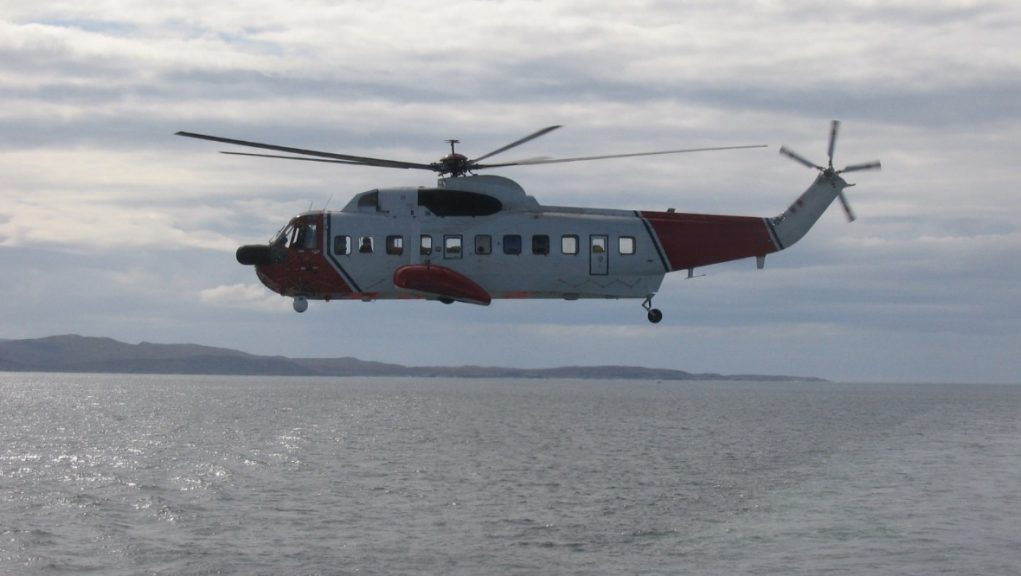 Rescue: Swimmer taken to hospital after getting into difficulty.