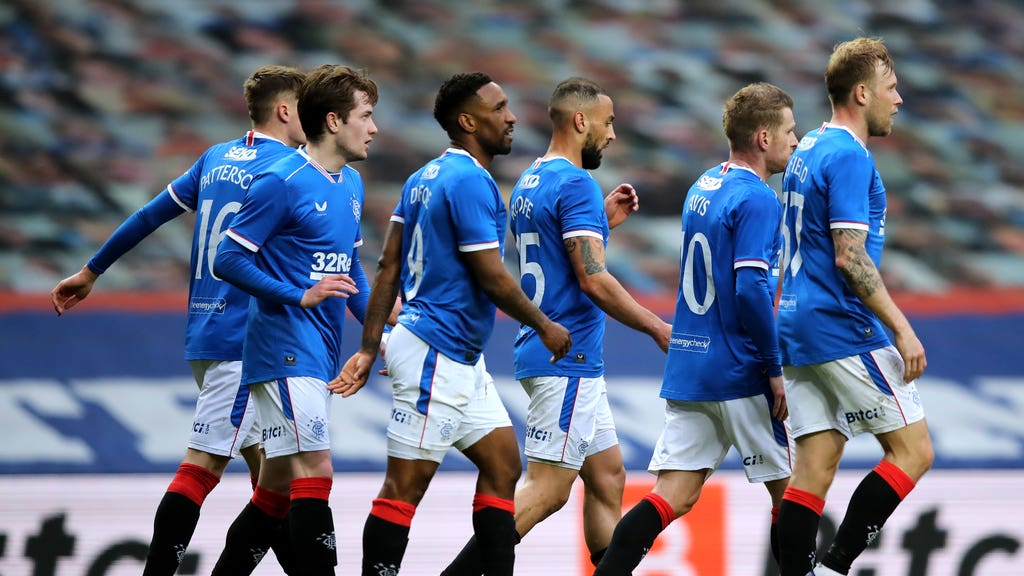 Rangers cruised past Cove to set up Old Firm clash.