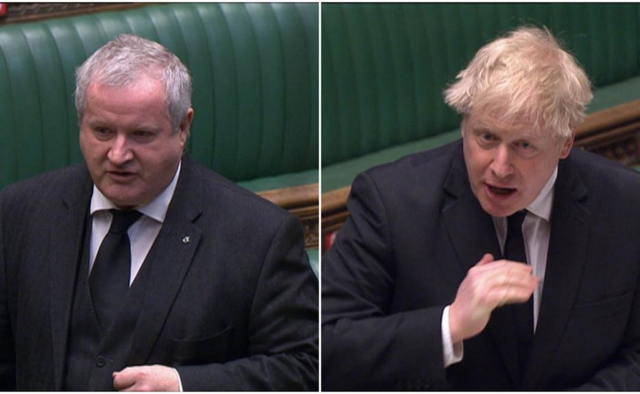 Ian Blackford has issued challenge to Prime Minister Boris Johnson.