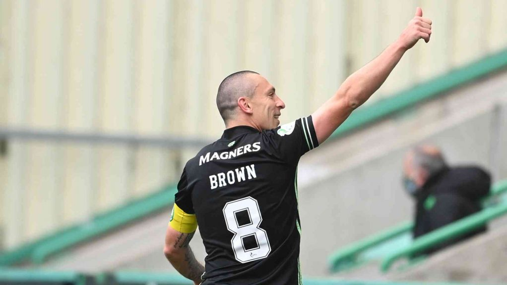 Brown played his last game for Celtic before joining Aberdeen.