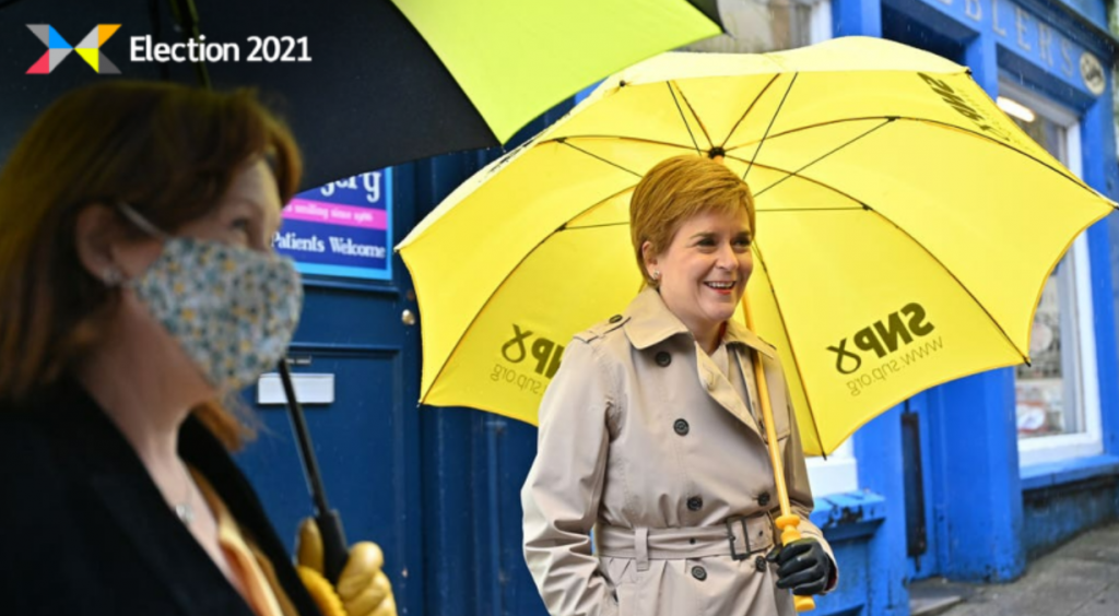 Sturgeon: Hoping to be re-elected as First Minister.