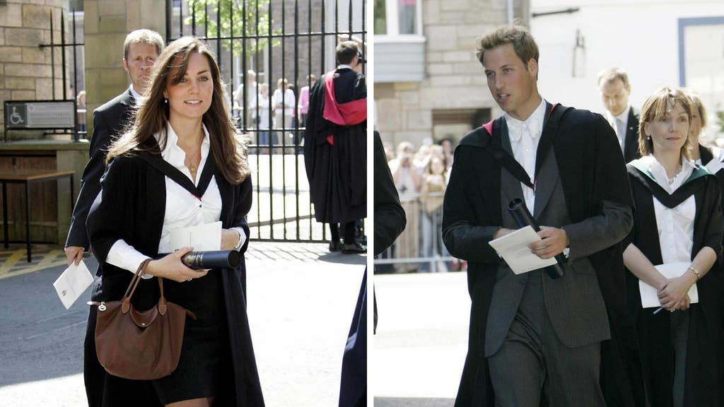 Kate Middleton and Prince William after their graduation ceremony at St Andrews University.