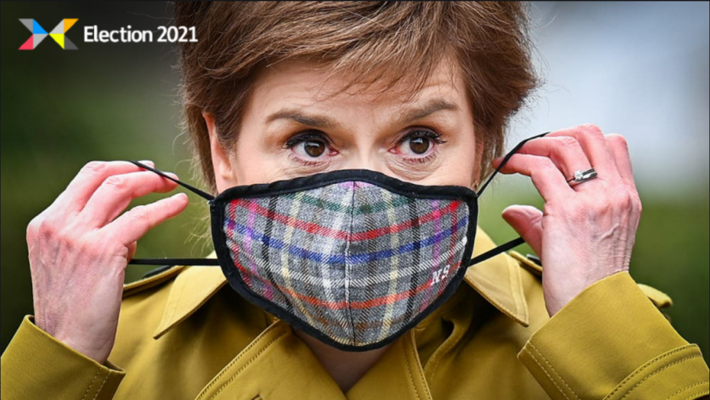 Sturgeon: Campaigning for re-election.