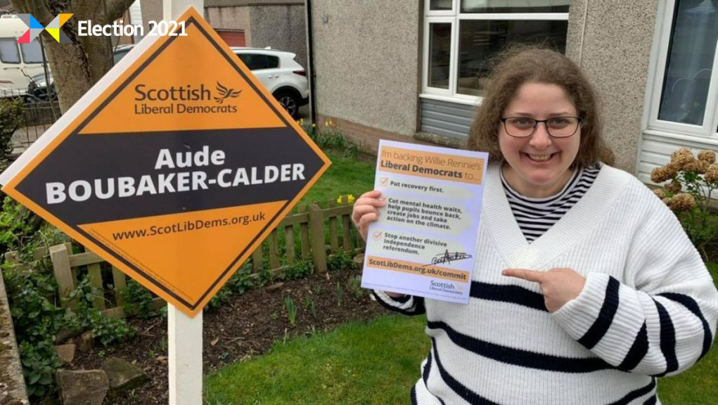 Scottish Lib Dems: Aude Boubaker-Calder has had to miss the Holyrood election count.